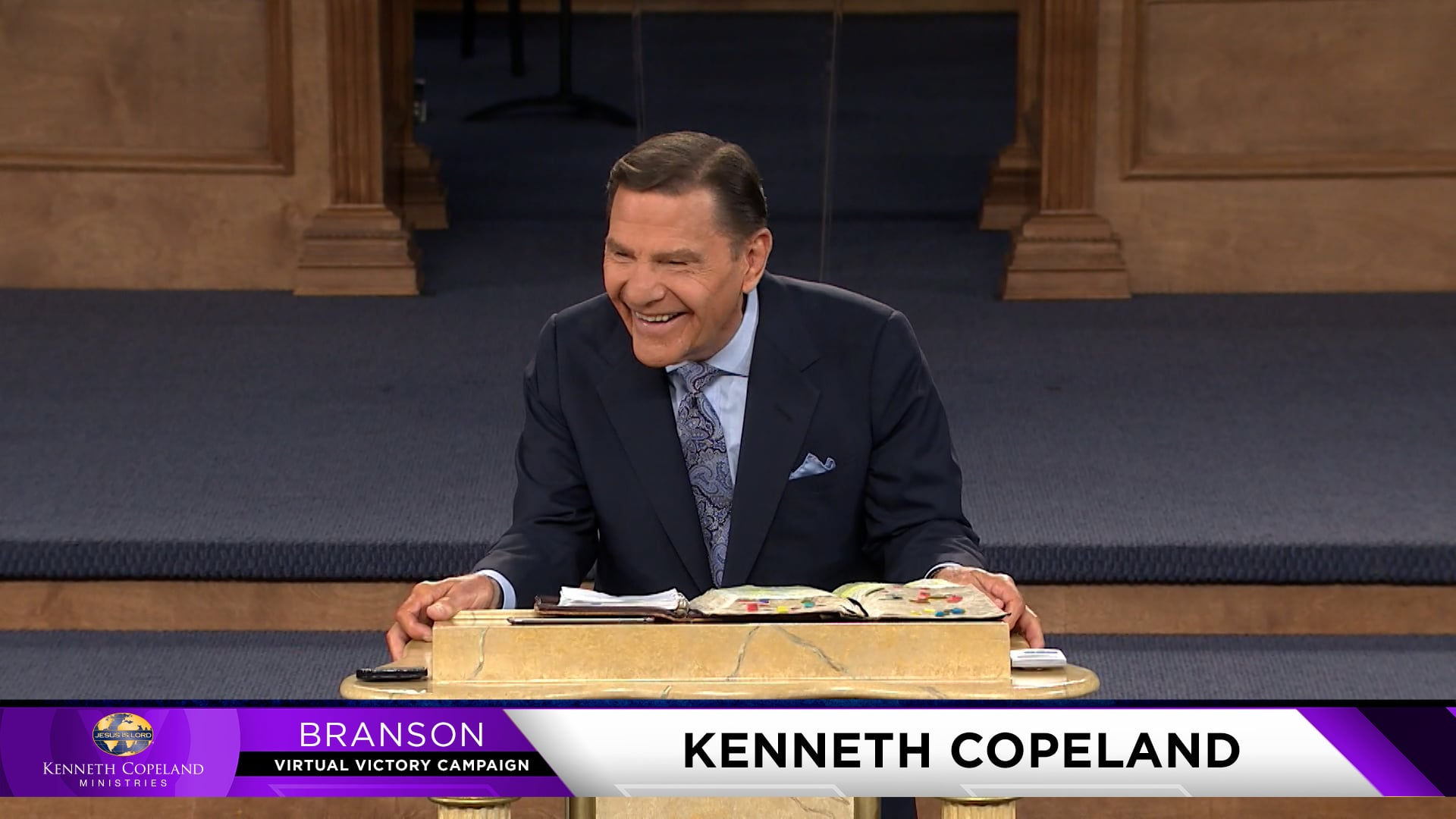 """At the 2021 Branson Virtual Victory Campaign, Kenneth Copeland reviews various laws of the kingdom of God and how they apply to daily living.  """"Seek ye first the kingdom of God…"""" (Matt. 6:33) Put first things first, that is, what He says should be first. Then you will truly have a life worth living!"""