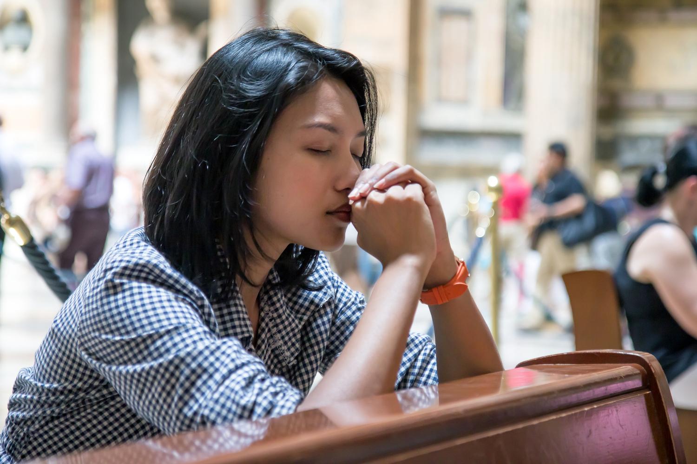 Asian girls praying ebony girls