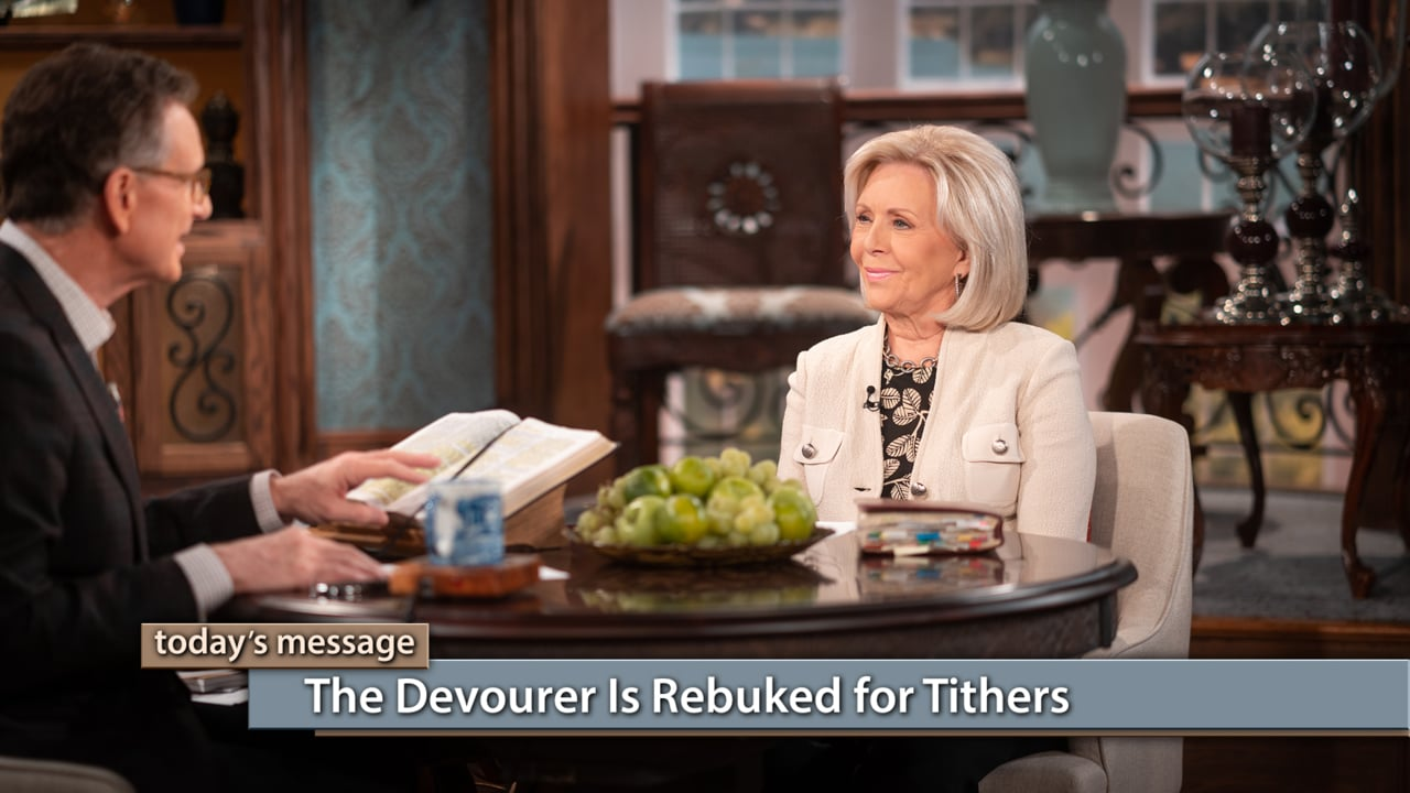 Do you need the devourer rebuked from your life? Join Gloria Copeland and George Pearsons on Believer's Voice of Victory, as they teach you how the devourer is rebuked for tithers, putting them in position for victory and protection from anything and everything the devil tries to steal!