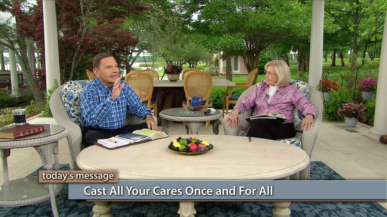 Do you cast your cares on Jesus, only to take them back again? Join Kenneth and Gloria Copeland on Believer's Voice of Victory, as they show you how to cast all your cares, once and for all, on Jesus! The devil will bombard you with the temptation to hold on to your cares, but you can refuse those thoughts and live in perfect peace.