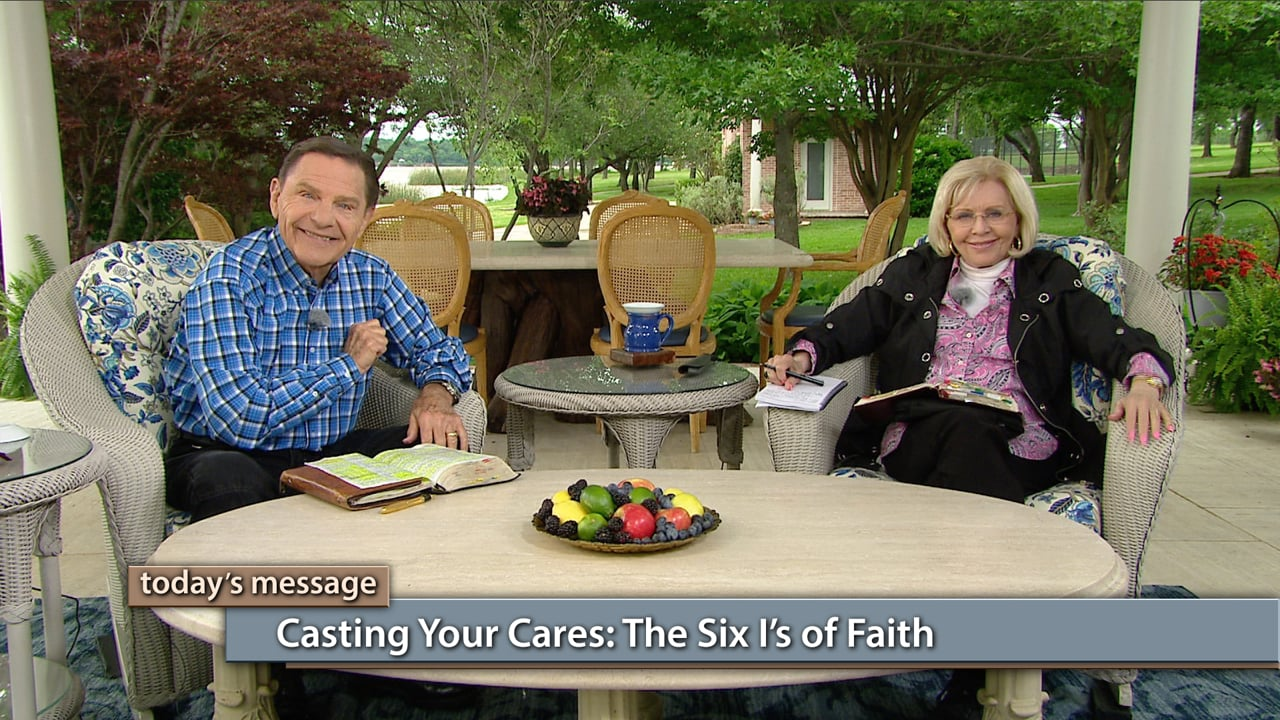 """You can wash your cares away with faith! Watch Believer's Voice of Victory, as Kenneth and Gloria Copeland teach you to live and walk in the """"six I's of faith."""" Learn how Jesus is your Care Taker—but you have to cast your cares on Him by faith!"""