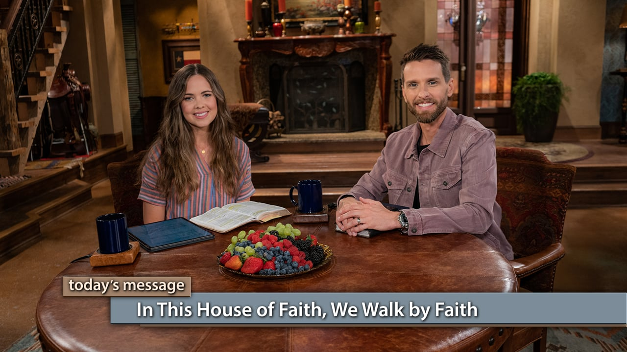 Join Jeremy and Sarah Pearsons on Believer's Voice of Victory as they share how being part of the household of faith means we are different from the world—we live differently, we believe differently, and we have victories where others suffer failures. Learn how walking by faith means we never, ever quit, but we keep walking even when we're weary. In this house of faith, we walk by faith!