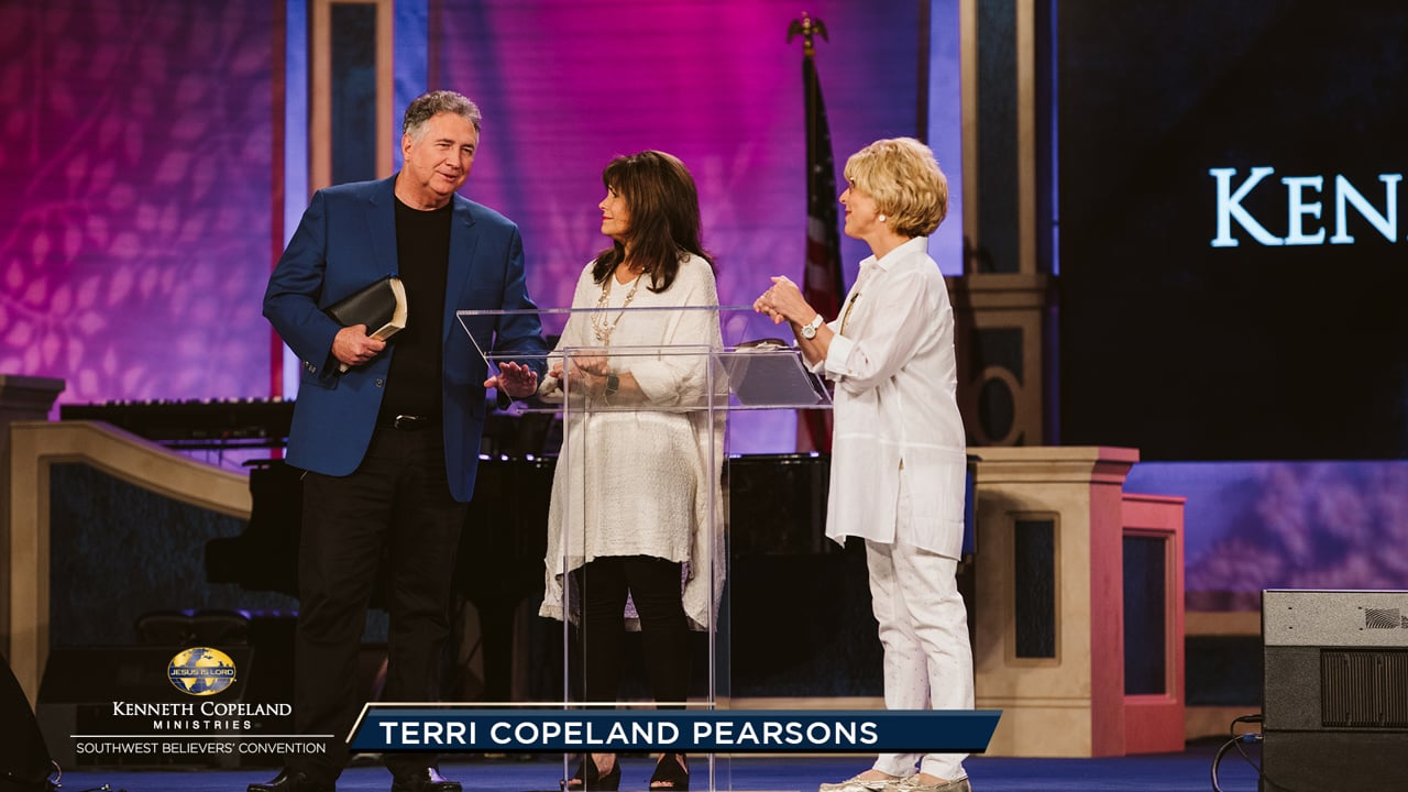 "At the 2019 Southwest Believers' Convention, Terri Copeland Pearsons is joined by Mark and Trina Hankins. SWBC is compared to preparing coals for a barbecue! People are being ""soaked"" in the Holy Spirit for a time and place to burn brightly for the glory of God. Get ready to take new territory!"