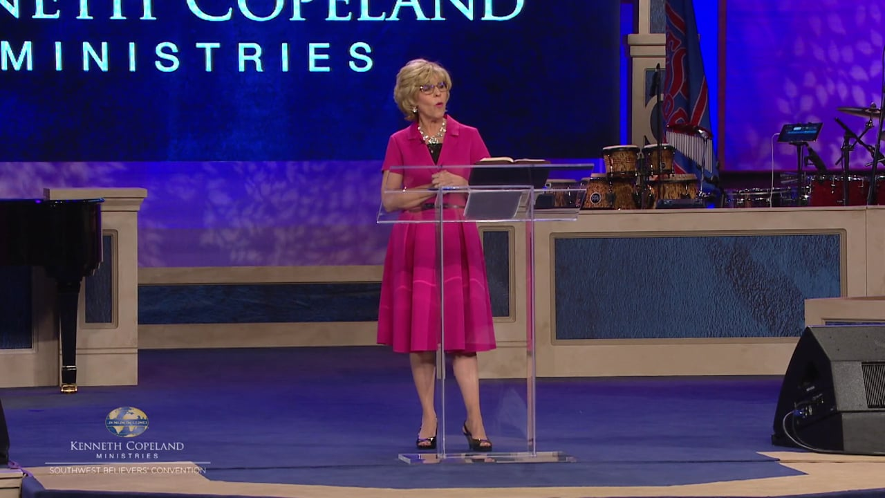 """We gather to pray """"…on behalf of all men,"""" and """"…without anger…lifting up holy hands"""" (1 Timothy 2:1,8, Amplified Bible, Classic Edition). At the 2019 Southwest Believers' Convention, Terri Copeland Pearsons leads corporate prayer for an awakening to God in all those He has placed in authority."""