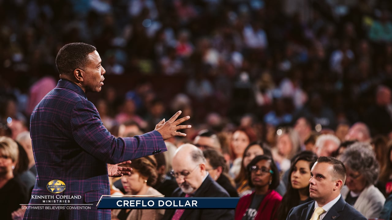 """You have """"undeserved privilege"""" in Jesus, not because of your religious performance. At the 2019 Southwest Believers' Convention, Creflo Dollar explains how we take possession of what's already been done by Jesus on the cross. Renew your mind to your identity in Christ and your behavior will follow!"""