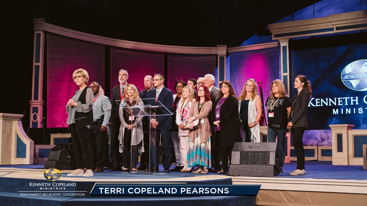 Join the 2019 Southwest Believers' Convention as Ps. Terri Copeland Pearsons welcomes several students from KCBC. Hear testimonies from students about how the different generations have been a blessing to each other. These students formed a mighty river of faith as they led the congregation in prayer.
