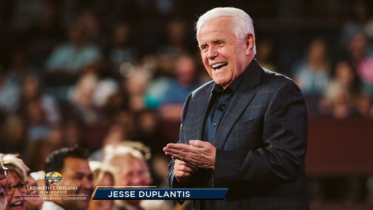 """At the 2019 Southwest Believers' Convention, Jesse Duplantis explains the biblical principle of having """"things""""; to be a blessing to others. """"And God is able to make all grace abound toward you; that ye, always having all sufficiency in all things, may abound to every good work"""" (2 Corinthians 9:8)."""