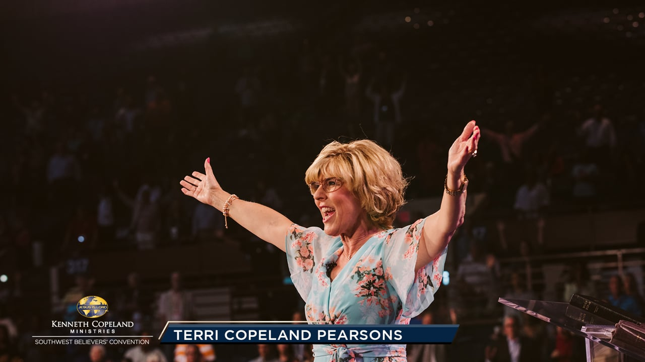 """The Holy Spirit is here to lead us, but we must watch for Him and follow Him in our praying. At the 2019 Southwest Believers' Convention, join Ps. Terri Copeland Pearsons as she teaches how to set a direction and purpose for prayer. Praying in tongues takes the """"unseen"""" and manifests it in the """"seen."""""""