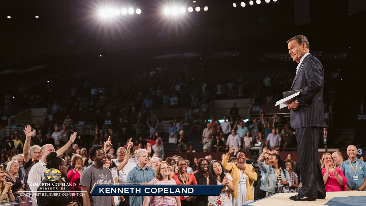 At the 2019 Southwest Believers' Convention, Kenneth Copeland talks about the importance of how you measure. The way you hear and see it is how it will be measured back to you. Do you see a teacup harvest or a dump truck harvest? Not a trickle, not a stream or river, but a flood. That's God's economy!