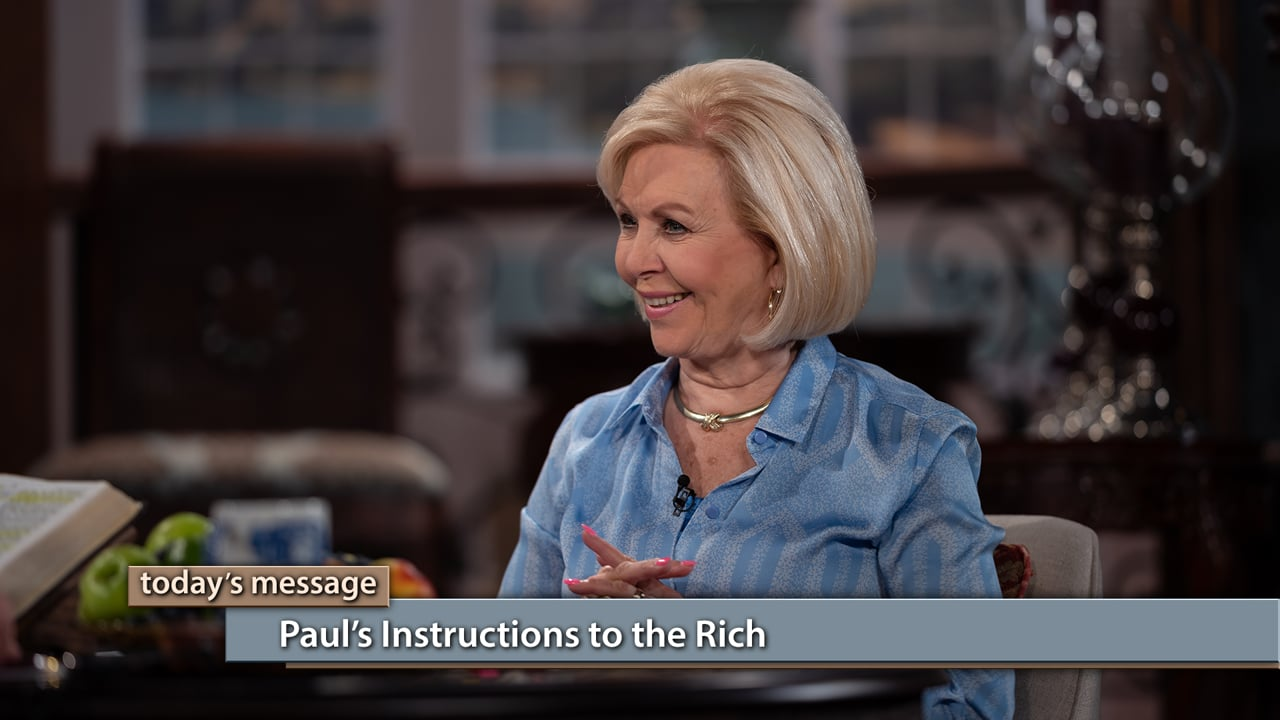 There's a proper way to manage wealth! Watch Gloria Copeland and George Pearsons on Believer's Voice of Victory as they teach you how to handle the abundance God desires for you, by giving generously and resisting pride. Learn about Paul's instructions to the rich, and how to apply it to your life to keep you in line with God and eligible for continued increase.