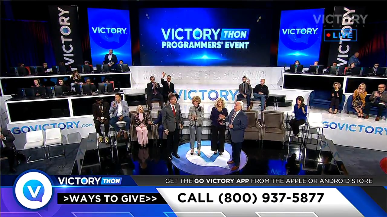 In our seventh and final session of VICTORYthon Programmers' Event, host Jesse Duplantis, VICTORY Channel programmers and musical guests conclude this powerful time of vision for VICTORY Channel! Hear from your favorite VICTORY Channel ministers and see how viewers have been impacted by VICTORY. With the help of our Partners and friends, VICTORY Channel is expanding to reach more people with the good news!