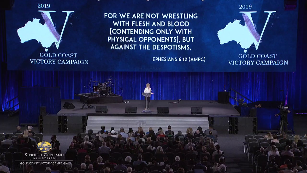 Join Terri Copeland Pearsons at the 2019 Gold Coast Victory Campaign as she teaches how to lock in to the slipstream of the flow of the Holy Spirit in prayer. Learn about the word that the Spirit anoints and chooses to put in your mouth to come out at the right time to defeat the strategies of the enemy.