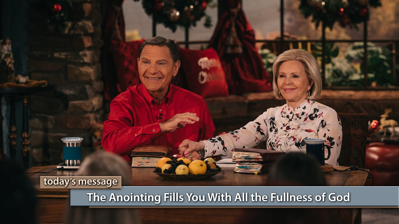 The anointing dwells in you and fills you to overflowing! Watch Believer's Voice of Victory as Kenneth and Gloria Copeland teach you how the anointing will dwell in your heart by faith and fill you with all the fullness of God. The anointing gives you knowledge, wisdom and spiritual understanding. The anointing is the gift of Christmas!