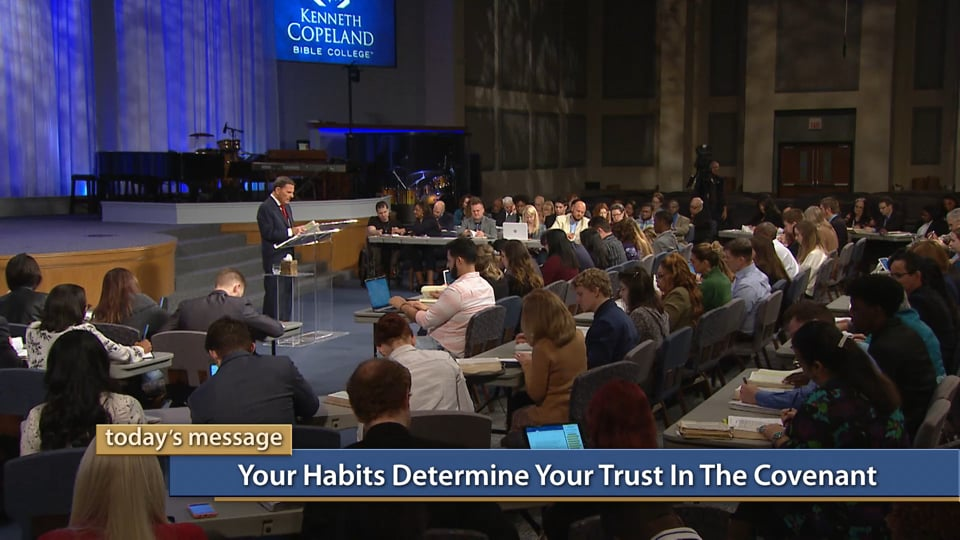 You'll trust in the covenant when you become trustworthy yourself! Join Kenneth Copeland on Believer's Voice of Victory as he explains why your own habits determine your trust in God's covenant. Find out how being a man or woman of your word will influence your faith.