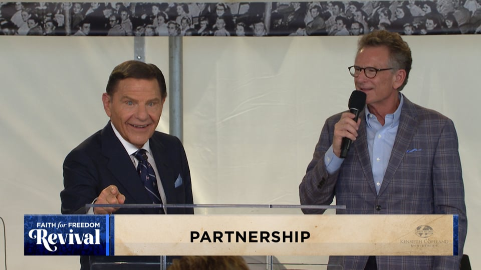 Praying for Partners is a major endeavor of KCM. At the 2020 Faith for Freedom Revival Kenneth Copeland emphasizes how we are joined together for a purpose. When you take advantage of partnership, you should expect the anointings of this ministry in your life every day as well as the prophet's reward!
