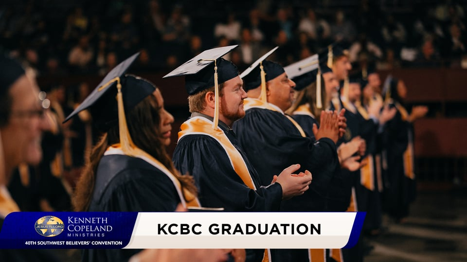 Join the first commencement of Kenneth Copeland Bible College® at the 2020 Southwest Believers' Convention. See graduates honored as they receive their diplomas and their charge from KCBC founder, Kenneth Copeland. May every listener take the charge also, as a calling from God to fulfill in this world.