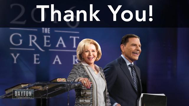 Enjoy watching this special partnership message during the 2017 Dayton Victory Campaign as Kenneth Copeland shares events that are taking place at Kenneth Copeland Ministries.