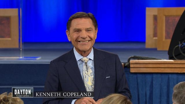 Kenneth Copeland preaches good news during this offering message, Friday evening at the 2017 Dayton Victory Campaign in Ohio.
