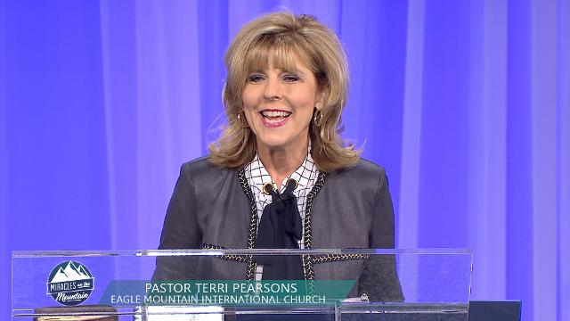 Let your faith rise to a new level as you listen to Pastor Terri Pearsons teach on God's power to heal you. Join her for the Saturday morning session of the 2017 Miracles on the Mountain meeting at Eagle Mountain International Church.