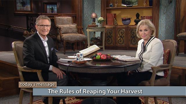 You don't just reap your harvest automatically! Watch Gloria Copeland and Pastor George Pearsons on Believer's Voice of Victory as they explain the connection between acting on the Word of God and reaping the harvest that belongs to you. It is our responsibility to take in our harvest!