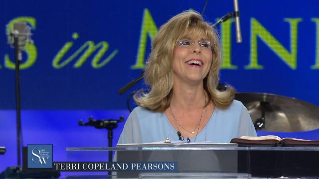 Join Terri Copeland Pearsons as she prays during the Friday morning, pre-service prayer session at the 2017 Southwest Believers' Convention.