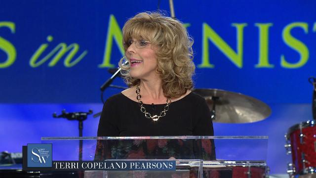 Pray with Terri Copeland Pearsons during Friday evening, pre-service prayer at the 2017 Southwest Believers' Convention.