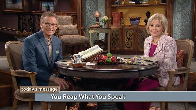 Watch Gloria Copeland and Pastor George Pearsons on Believer's Voice of Victory as they explain how what you speak today dictates what you'll reap tomorrow. Your words command your harvest to come to you!