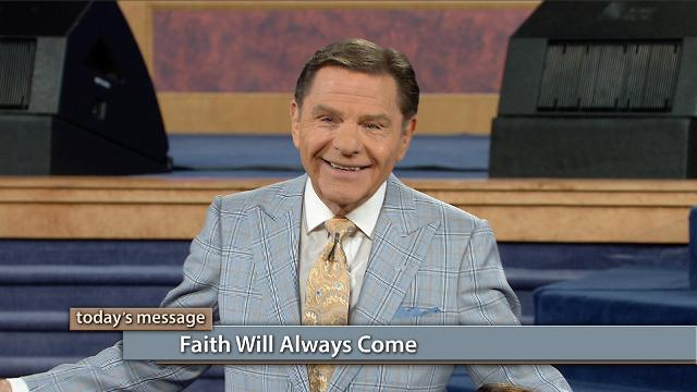 You don't have to hope for faith—it always comes! Watch Kenneth Copeland on Believer's Voice of Victory explain how when you feed on The WORD of God each day, the dominating power of faith-filled words will invade your life.
