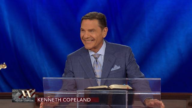 Kenneth Copeland shares the Thursday evening offering message during the 2017 Washington, D.C. Victory Campaign.