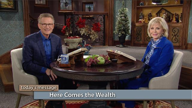 Here comes the wealth! Stay steady on the Word of God, and you will be in a position to receive the supernatural wealth transfer! Watch Gloria Copeland and Pastor George Pearsons on Believer's Voice of Victory explain how feeding your heart with God's Word changes your thoughts, so you won't be thinking lack anymore!