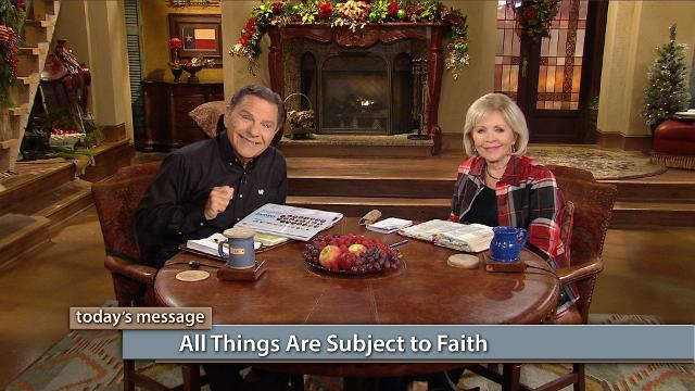 All things are subject to our faith—even the authority of darkness! God has put all things under our feet. Watch Kenneth and Gloria Copeland on Believer's Voice of Victory prove how faith will quench every fiery dart of the devil. So, don't leave the house underdressed—put your armor on!