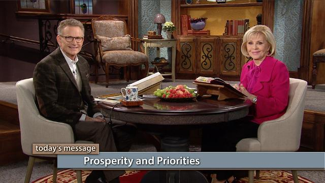 Are you putting your trust in the right place? Watch Gloria Copeland and Pastor George Pearsons on Believer's Voice of Victory explain how prosperity and priorities work together. When you put the Word first place, your prosperity is right around the corner!