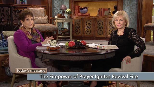 Every move of God starts on the altar of prayer because prayer ignites revival fire! Watch Gloria Copeland and Billye Brim on Believer's Voice of Victory share how prayer and revival fire go hand in hand. When we welcome a spirit of prayer and faith into our lives nothing will be impossible for us!
