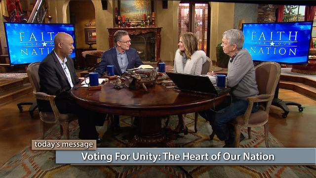 "Unity is the heart of our nation! That's why it's important to vote for politicians who will promote unity, not division. In day two of the Believer's Voice of Victory broadcast series Faith for Our Nation—Vote Special, George Pearsons, Michele Bachmann, David Barton and Keith Butler reveal the reason America is divided, and God's solution to uniting our country. Don't miss it!To watch the additional content, click here or go to: kcm.org/votingspecialTo download Pastor George Pearsons' notes ""Where Do You Stand – The Political Platforms"", click here or go to: emic.org/platforms"