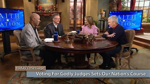 "Think local elections for judges aren't worth voting in? Think again. Today, on Believer's Voice of Victory, George Pearsons, Michele Bachmann, David Barton and Keith Butler discuss the immense power local judges wield and how voting for godly judges sets our nation's course. Don't miss this final episode of the series, Faith for Our Nation—Vote Special.  To watch the additional content, click here or go to: kcm.org/votingspecialTo download Pastor George Pearsons' notes ""Where Do You Stand – The Political Platforms"", click here or go to: emic.org/platforms"