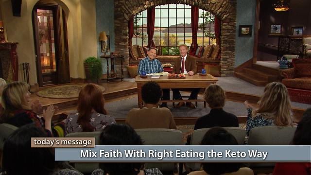 Faith for healing must be joined with right choices in the natural! Watch Kenneth Copeland and Dr. Don Colbert on Believer's Voice of Victory as they answer questions from a studio audience about living a Keto Zone lifestyle. Learn how to mix faith with right eating the keto way for a healthy, healed life!