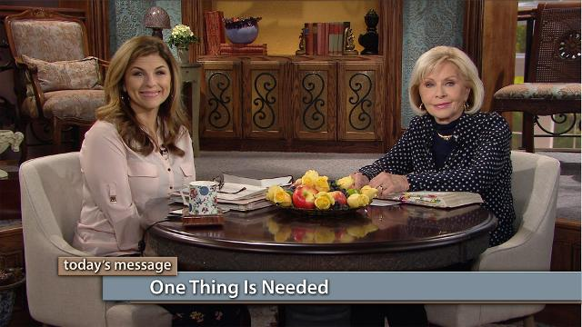 "Jesus isn't looking for ""amazability,"" He's looking for availability. Watch Gloria Copeland and Kellie Copeland on Believer's Voice of Victory to discover only one thing is needed--time in God's presence."
