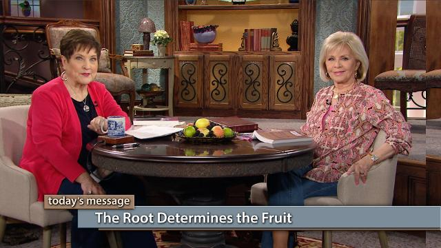 "Did you know the root determines the fruit? Watch Gloria Copeland and Billye Brim on Believer's Voice of Victory as they dig down to the root of the word shalom, which means ""peace that comes from being whole."" The goodness of God is the wholeness that brings you peace—and it comes through Jesus!"