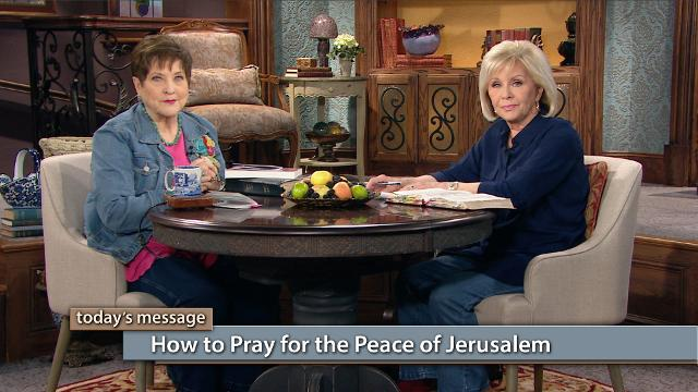 Watch Gloria Copeland and Billye Brim on Believer's Voice of Victory reveal how to pray for the peace of Jerusalem by praying for oneness and wholeness—not division. Learn to apply Scripture to your prayers for a land God has called us to uphold in prayer.