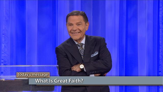 What is great faith? That's a great question! Today on Believer's Voice of Victory, Kenneth Copeland will lead you to the answer. Great faith is not difficult and it's not a mystery. Great faith is a simple act of trusting God. Begin to develop your great faith today!