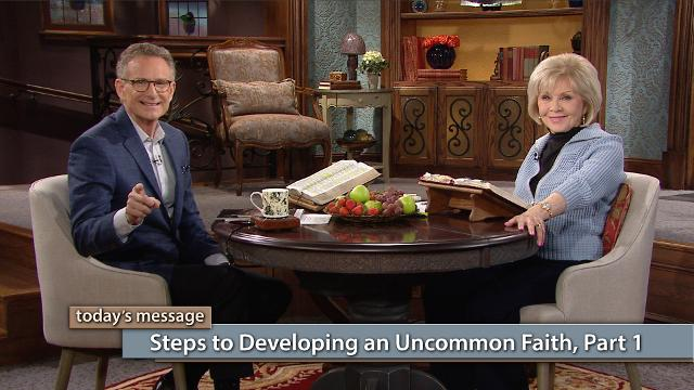 Would you like to have the kind of faith that can move mountains and take victory over every situation? In this episode of Believer's Voice of Victory, Gloria Copeland and George Pearsons teach you the first steps to developing an uncommon faith that will catapult you to new levels!