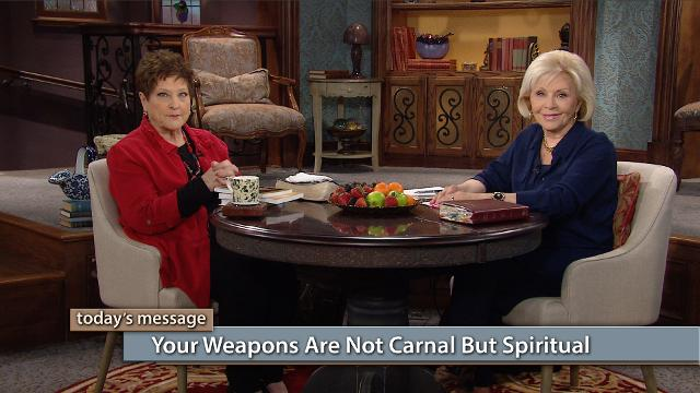 Watch Gloria Copeland and Billye Brim today on Believer's Voice of Victory as they discuss how the weapons of our warfare are not carnal but spiritual. Learn the meaning of carnal and discover how God intends for you to experience spiritual growth—spirit, soul and body. Find out why your spirit should dominate, so you can defeat the enemy!