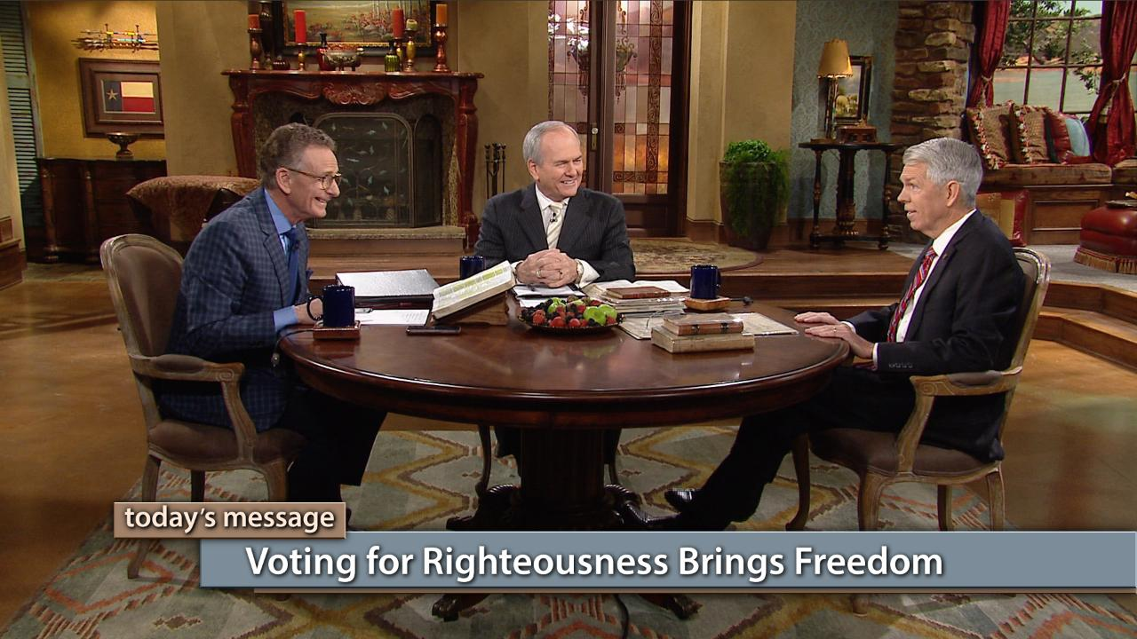 "Voting for righteousness brings freedom—not only to our nation but to nations all over the world! When Americans vote for life and elect righteous leaders to rule, the changes that take place in our government are felt across the world. Watch this special ""Faith for Our Nation"" broadcast on Believer's Voice of Victory with George Pearsons, David Barton and Buddy Pilgrim, and see how your single vote can make all the difference!"