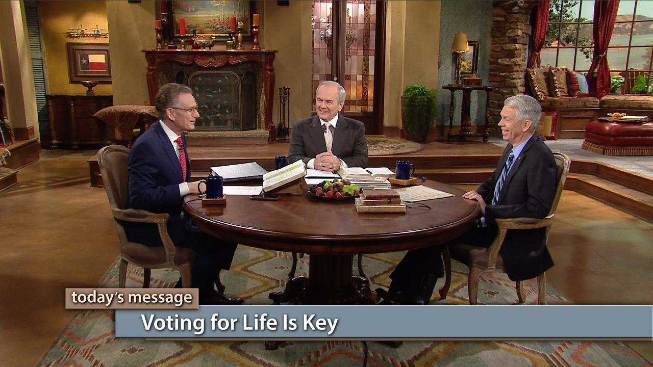 Voting for life is key to any election! Every issue on every ballot in America today is a matter of life and death—to our families and to our nation. Watch George Pearsons, David Barton and Buddy Pilgrim on Believer's Voice of Victory as they explore the issues that pertain to God's view of life and how we should always choose life with our vote!