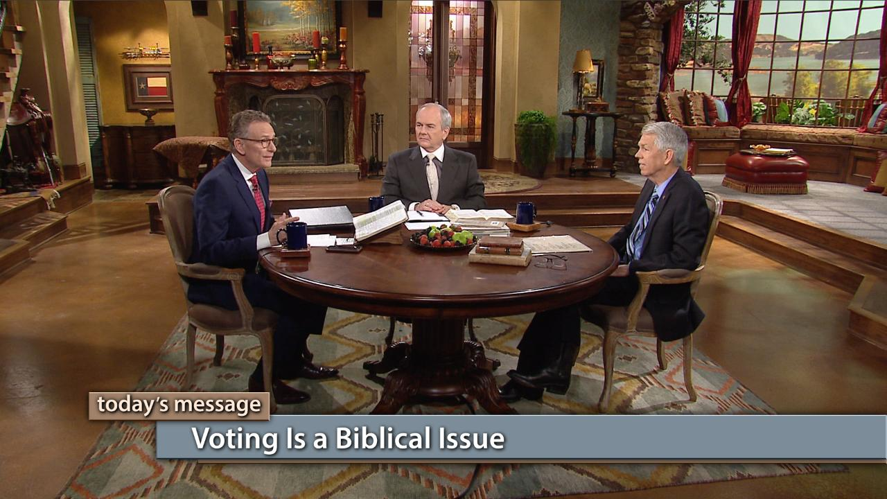 "Did you know that voting is a biblical issue? Way before it was a political issue, voting was an issue important to Christians. Join George Pearsons, David Barton and Buddy Pilgrim for this special ""Faith for Our Nation"" episode on Believer's Voice of Victory as they take a look at the biblical basis for God's people to be informed and involved in their nation's election processes."