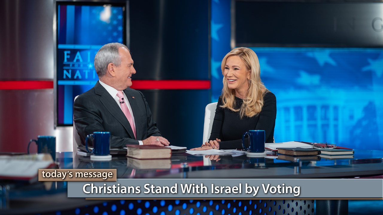 """Are you standing with Israel? Watch this special """"Faith for Our Nation"""" series of Believer's Voice of Victory, as George and Terri Pearsons, Buddy Pilgrim, and Paula White-Cain explain how Christians stand with Israel by voting for those who are for Israel. Your vote for those who support Israel is critical in the 2018 midterm elections!"""