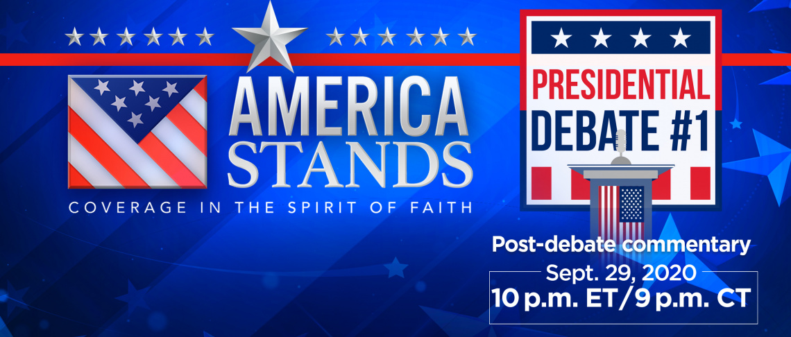 Watch Debate Coverage in the Spirit of Faith!